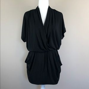 RACHEL Rachel Roy Drape Front Black Dress (XS)